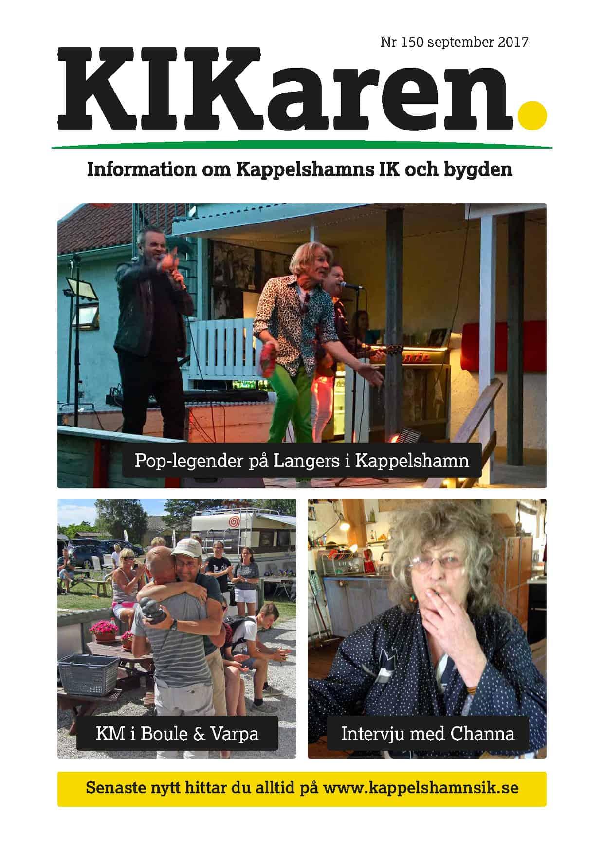 finest selection 4f9cc ade21 Pop-legender på Langers i Kappelshamn KM i Boule   Varpa Intervju med Channa